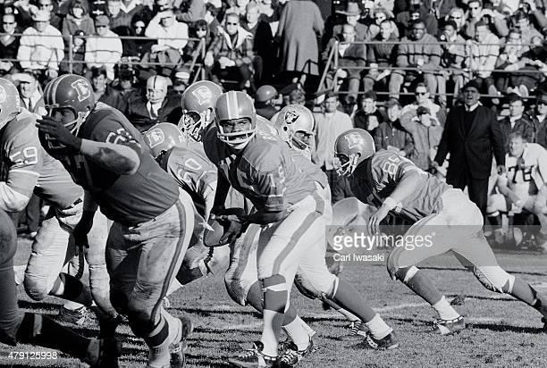 Denver Broncos QB Marlin Briscoe in action vs Oakland Raiders at Mile High Stadium Denver CO CREDIT Carl Iwasaki