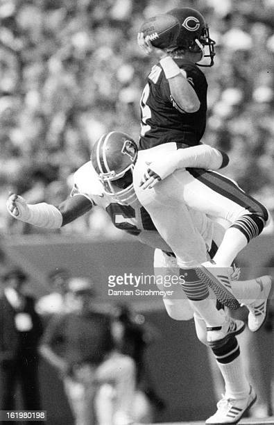 SEP 1 1983 OCT 3 1983 Football Denver Broncos Quarterback Jim McMahon helped the Bears jump in front in the fist half