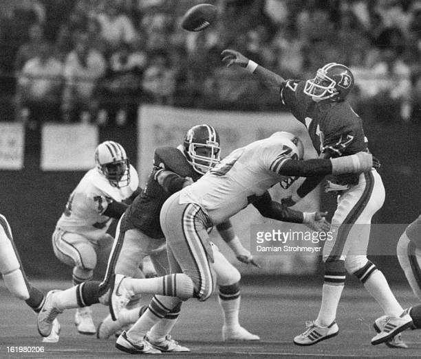 SEP 8 1983 OCT 10 1983 Football Denver Broncos Steve DeBerg was workmanlike and effective if not spectacular against the Oilers