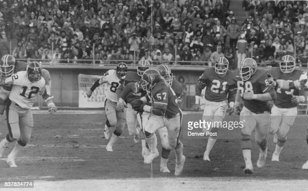 Football Denver Broncos Tom Jackson and the Orange Crush Collect a Steeler Turnover Jackson picked up a loose ball late in the second period and...