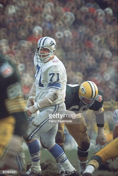 Detroit Lions Alex Karras in action vs Green Bay Packers Green Bay WI CREDIT Heinz Kluetmeier
