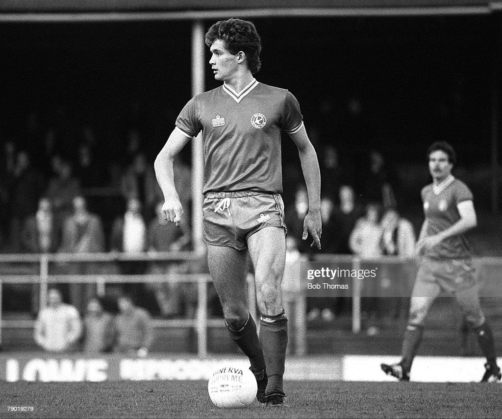 Football. Division Three. 13th November 1982. Walsall 2 v Reading 1. Walsall's Lee Sinnott. : News Photo
