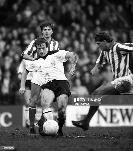 Football Division Two 27th November 1982 Fulham 1 v Sheffield Wednesday 0 Fulham's Ray Lewington is challenged by Wednesday's Andy McCulloch as Gary...