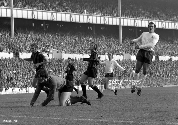 Football English First Division London England 26th September 1970 Tottenham Hotspur 2 v Manchester City 0 Spurs Martin Chivers scores a goal past...