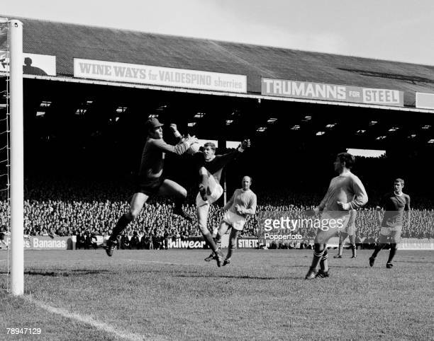 Football English League Division 1 17th August 1968 Maine Road Stadium Manchester City 0 v Manchester United 0 Manchester City's goalkeeper Ken...