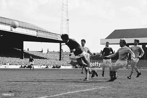 Football English League Division 1 17th August 1968 Maine Road Stadium Manchester City 0 v Manchester United 0 George Best of Manchester United heads...
