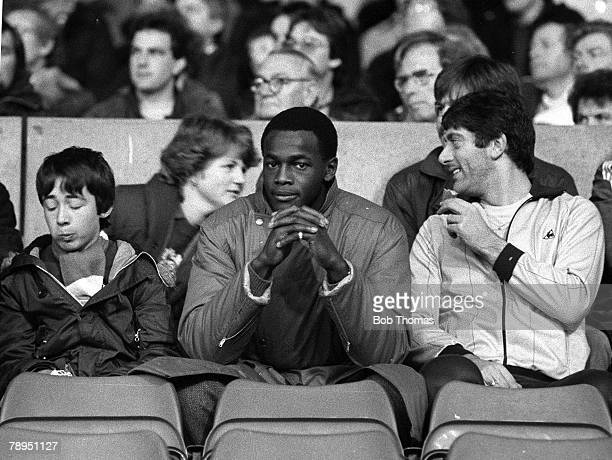 Football English League Division One 27th November 1982 Nottingham Forest 3 v Manchester City 0 Forest's unwanted striker Justin Fashanu sadly...