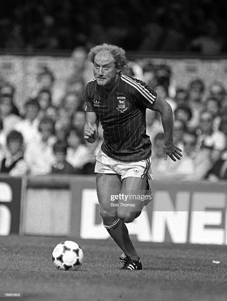 Football. English League Division One. 4th September 1982. Ipswich Town 1 v Coventry City 1. Ipswich Town's Alan Brazil on the ball. : News Photo