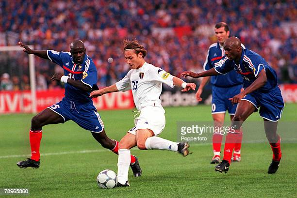 Football European Championship Final Feyenoord Stadium Rotterdam Holland 29th June2000France 2 v Italy 1 Italy's Francesco Totti is chased by Lillian...