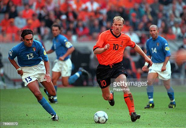Football European Championship SemiFinal Amsterdam Arena Holland 29th June Italy beat Holland 31 0n penalties Italy's Alessandro Nesta chases...