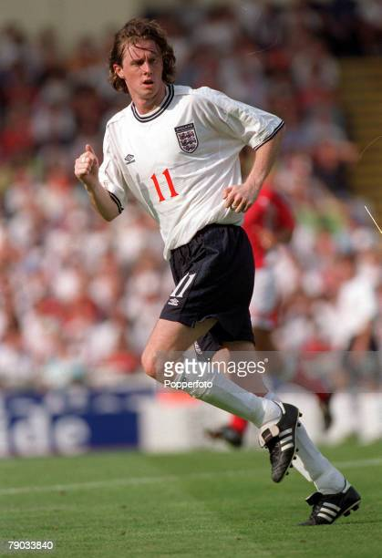 Football European Championships 2000 Qualifier Wembley England 6 v Luxembourg 0 4th September England's Steve McManaman who scored two goals in the...