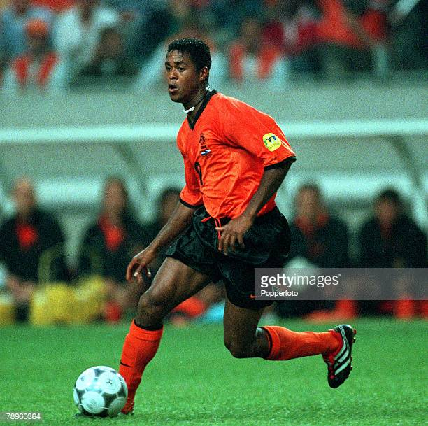Football, European Championships , Amsterdam Arena, Holland, Holland 1 v Czech Republic 0, 11th June Holland+s Patrick Kluivert on the ball