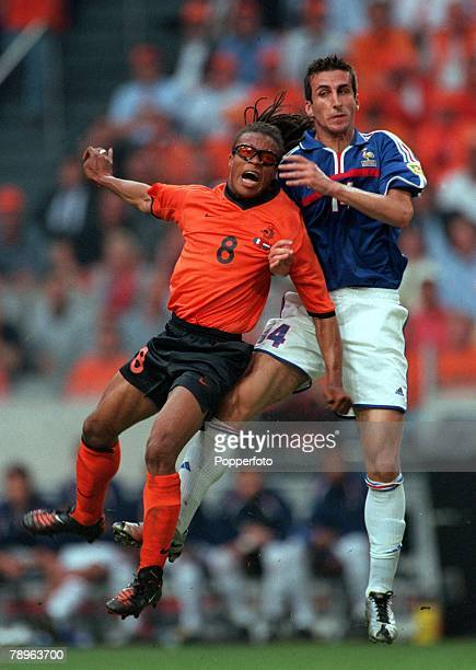 Football European Championships Amsterdam Holland 21st June Holland 3 v France 2 France's Holland's Edgar Davids wearing protective sunglasses for a...