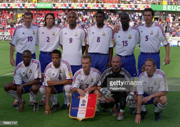 Football European Championships Bruges Belgium Czech Republic 1 v France 2 16th June The France team group before the match They are Back Row LR...
