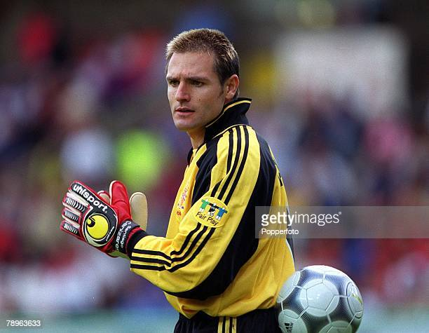 Football European Championships Bruges Belgium Spain 4 v Yugoslavia 3 21st June Spanish goalkeeper Santiago Canizares