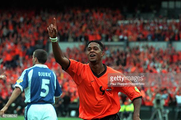 Football European Championships Feyenoord Stadium Rotterdam Holland Holland 6 v Yugoslavia 1 25th June Holland's Patrick Kluivert celebrates after...