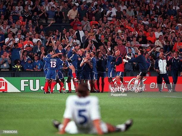 Football, European Championships , Final, Feyenoord Stadium, Rotterdam, Holland, France 2 v Italy 1 , 2nd July Italy+s Fabio Cannavaro sits...