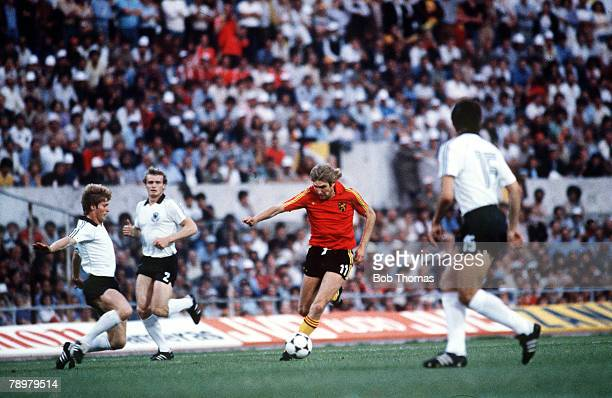 Football European Championships Final Rome Italy 22nd June 1980 West Germany 2 v Belgium 1 Belgium's Jan Ceulemans