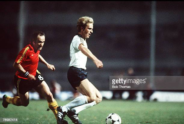 Football European Championships Final Rome Italy 22nd June 1980 West Germany 2 v Belgium 1 West Germany's Karl Heinz Rummenigge