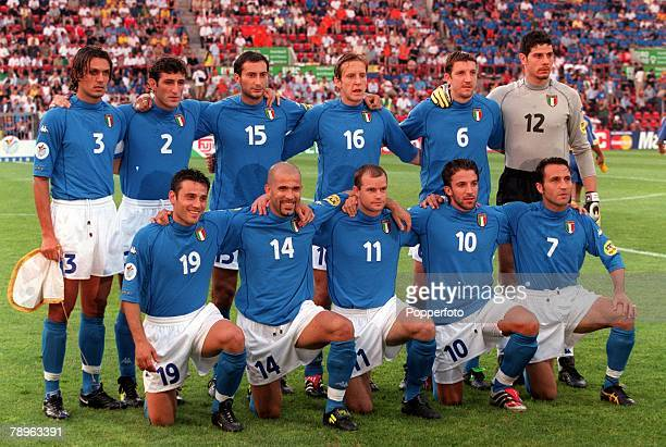 Football European Championships Philips Stadium Eindhoven Holland Italy 2 v Sweden 1 19th June The Italian team group before the match They are Back...