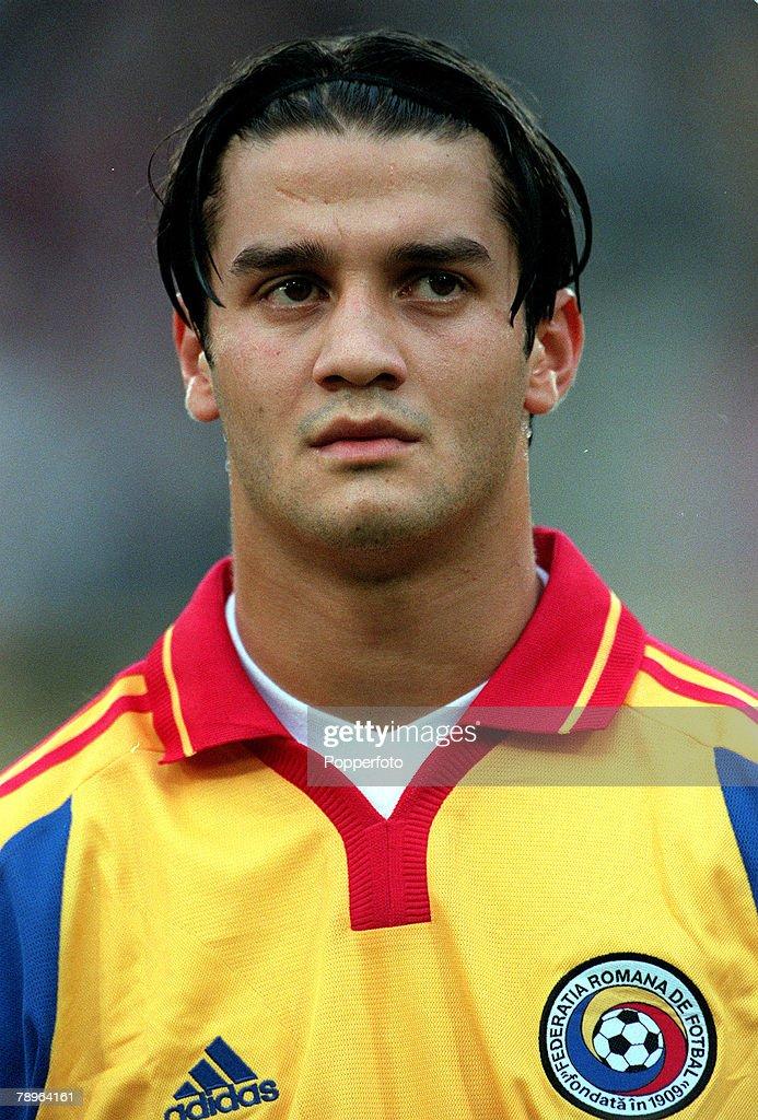 Football, European Championships Quarter Final, (EURO 2000), Brussels, Belgium, 24th June, 2000, Italy 2 v Romania 0, Portrait of Romania's Christian Chivu