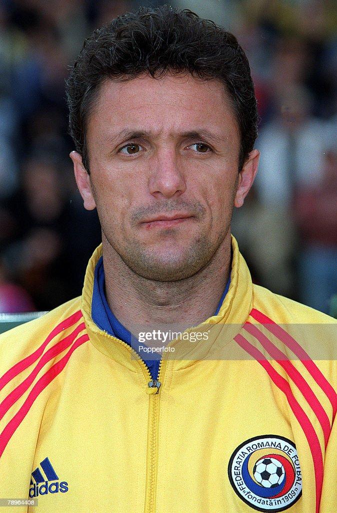 Football, European Championships Quarter Final, (EURO 2000), Brussels, Belgium, 24th June, 2000, Italy 2 v Romania 0, Portrait of Romania's Gheorghe Popescu