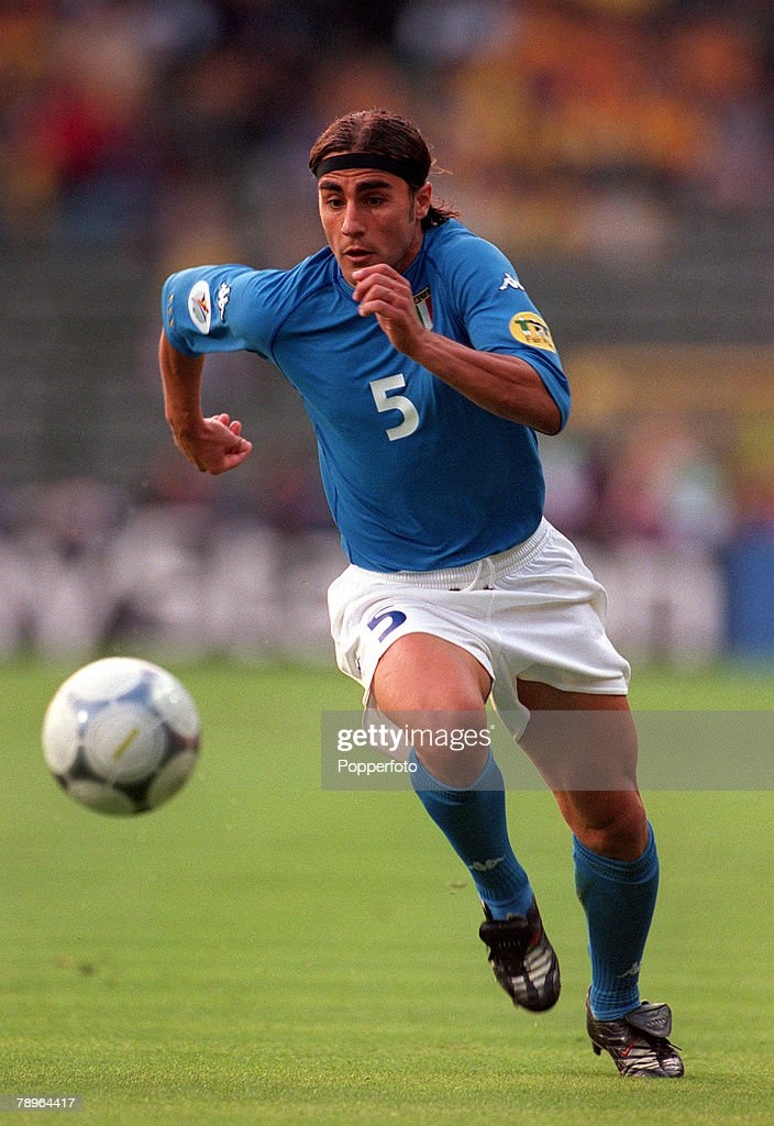 Football, European Championships Quarter Final, (EURO 2000), Brussels, Belgium, 24th June, 2000, Italy 2 v Romania 0, Italy's Fabio Cannavaro