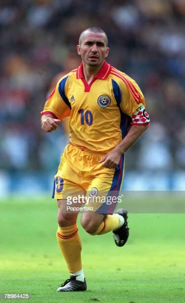 Football European Championships Quarter Final Brussels Belgium 24th June Italy 2 v Romania 0 Romania's Gheorghe Hagi