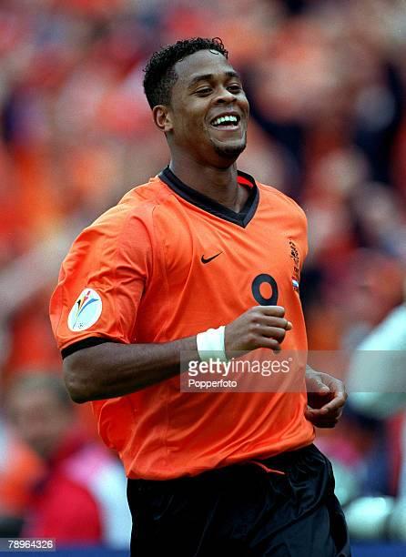 Football, European Championships Quarter Final, , Rotterdam, Holland, 25th June Holland 6 v Yugoslavia 1, Holland's hattrick hero Patrick Kluivert...