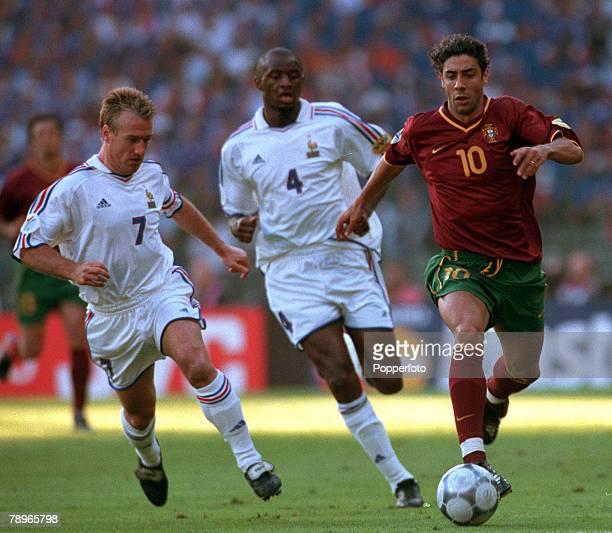 Football, European Championships , Semi-Final, King Baudouin Stadium, Brussels, Belgium, France 2 v Portugal 1 , 28th June Portugal+s Rui Costa is...