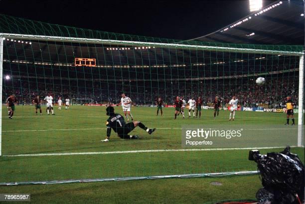Football European Championships SemiFinal King Baudouin Stadium Brussels Belgium France 2 v Portugal 1 28th June Frances Zinedine Zidane sends...