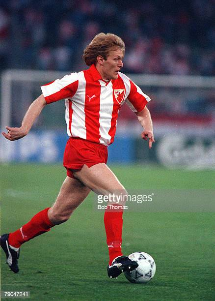 Football, European Cup Final, Bari, Italy, 29th May 1991, Marseille 0 v Red Star Belgrade 0 , Red Star Belgrade's Robert Prosinecki