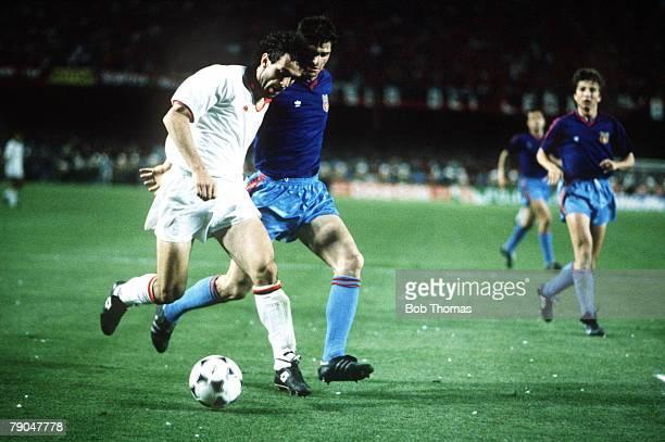 Football European Cup Final Nou Camp Barcelona Spain 24th May 1989 AC Milan 4 v Steaua Bucharest 0 AC Milan's Roberto Donadoni