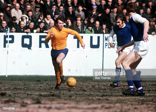 Football, Everton's Howard Kendall on the ball during their league match with Sheffield Wednesday, 1970