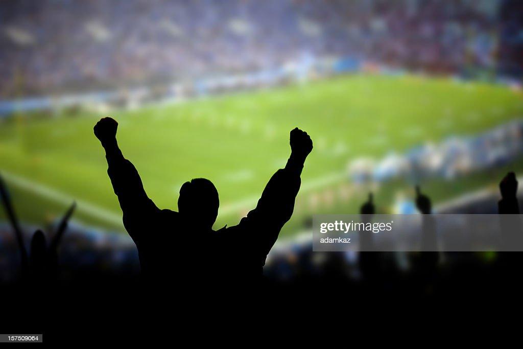 Football Excitement : Stock Photo