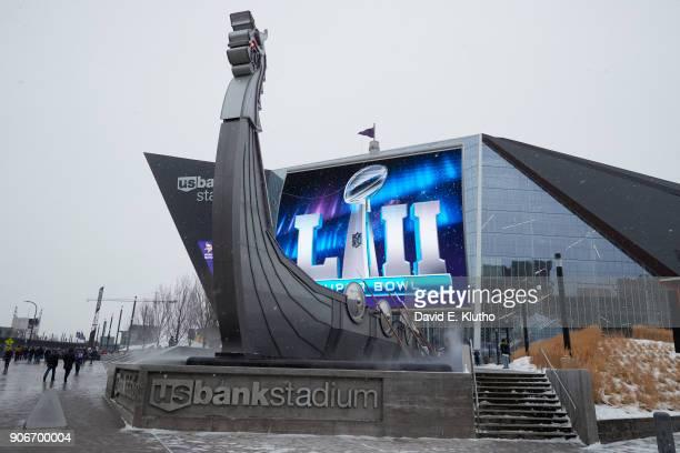 Exterior view of US Bank Stadium before Minnesota Vikings vs New Orleans Saints game Minneapolis MN CREDIT David E Klutho