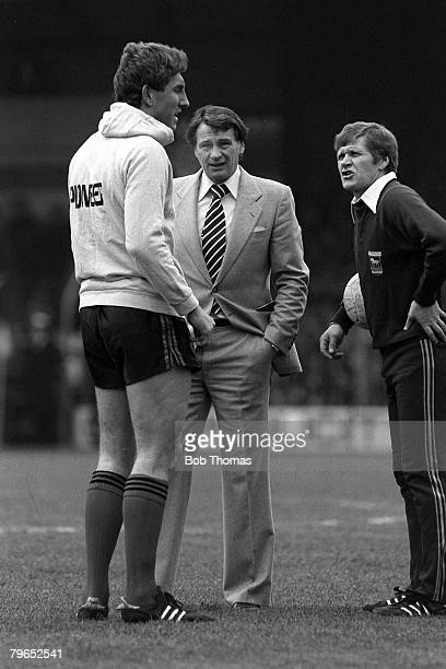 Football FA Cup 4th Round Luton England 23rd January 1982 Luton Town 0 v Ipswich 3 Ipswich Town manager Bobby Robson and his assistant Bobby Ferguson...