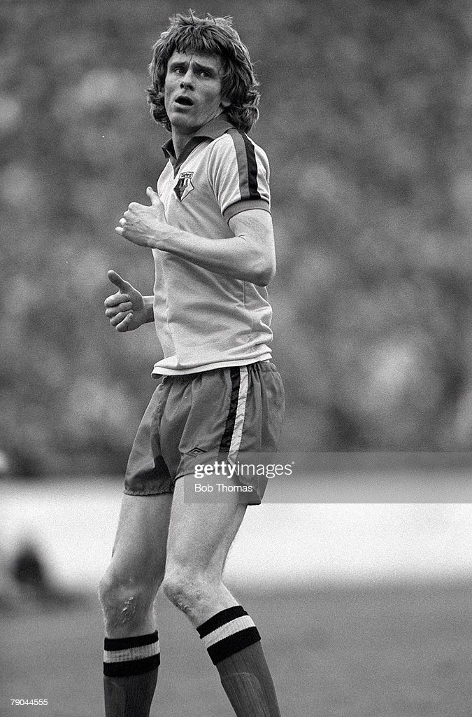 Football. FA Cup 4th Round. Watford, England. 23rd January 1982. Watford 2 v West Ham United 0. Watford's Ross Jenkins. : News Photo