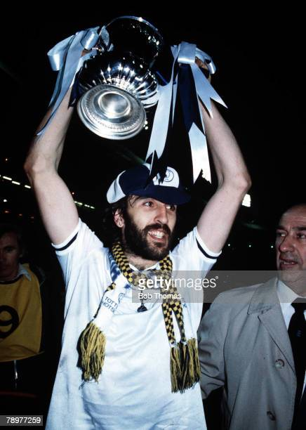 Football FA Cup Final Replay 18th May 1981 Wembley Stadium London Tottenham Hotspur 3 v Manchester City 2 A picture of the match winner Ricky Villa...