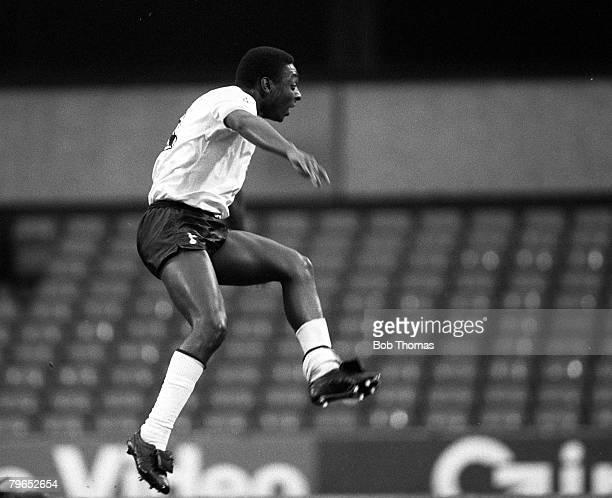 Football FA Cup Third Round London England 2nd January 1982 Tottenham Hotspur 1 v Arsenal 0 Spurs' Garth Crooks scores the winning goal