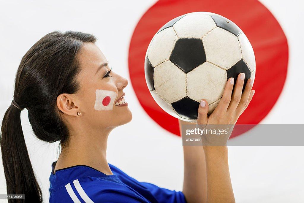 Football fan from Japan : Stock Photo