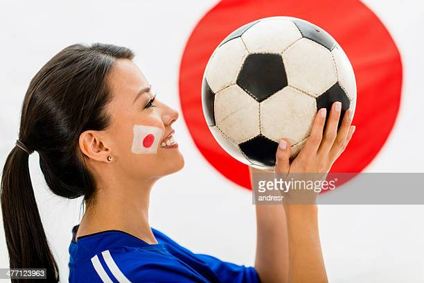 football fan from japan - japan women football stock photos and pictures