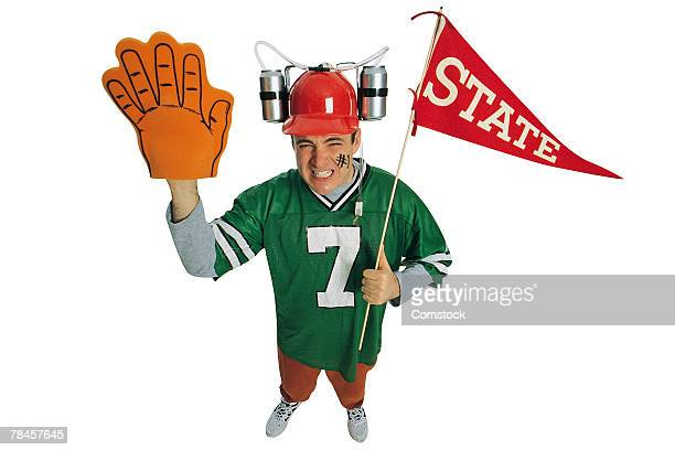 football fan - foam finger stock photos and pictures