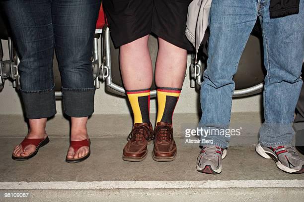 Football fan wearing Germany socks