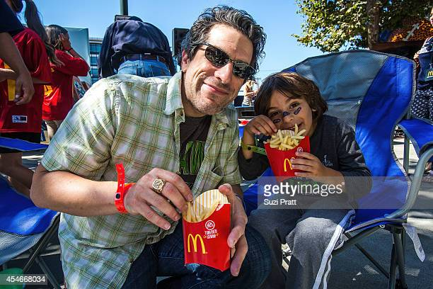 Football fans enjoy McDonald's at season opener kickoff party on September 4 2014 in Seattle Washington