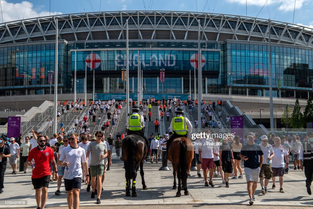 Fans Support England's Opening Game Of Euro 2020 : News Photo