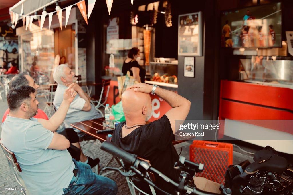 Fans Watch EURO 2020 Match Turkey v Wales In Berlin : News Photo