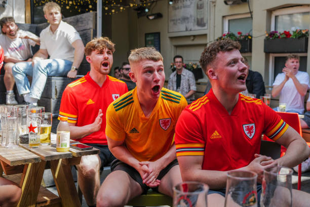 GBR: Football Fans Support Wales First Game Of Euro 2020