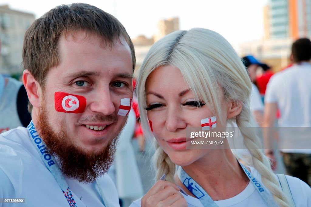 FBL-WC-2018-MATCH14-TUN-ENG-FANS : News Photo