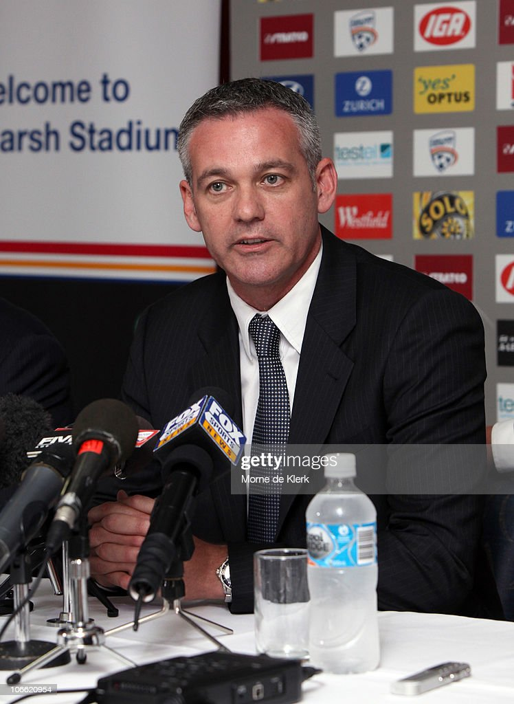 Football Federation Australia CEO Ben Buckley speaks during a media conference announcing the new owners of the Adelaide United Football Club at Hindmarsh Stadium on November 8, 2010 in Adelaide, Australia.